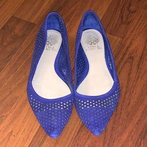 Vince Camuto Blue Lattice Flats Size 7M/37